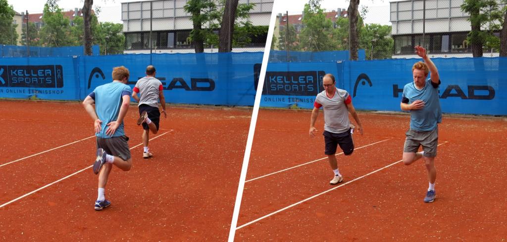 Tennis-Aufwärmübung 4: Lauf-ABC