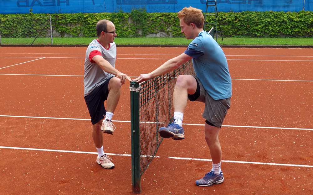 Tennis-Aufwärmübung 5: Hüftschwung