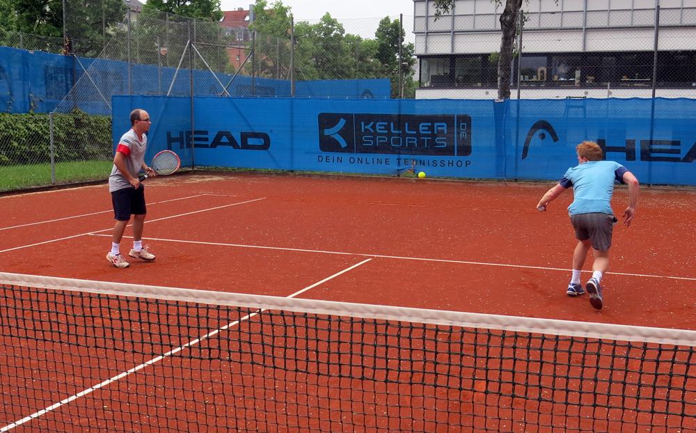 Tennis-Aufwärmübung 6