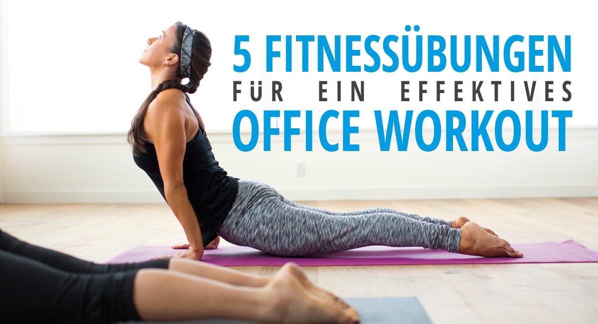 Mit diesen 5 Übungen bleibst du trotz deines Bürojobs fit