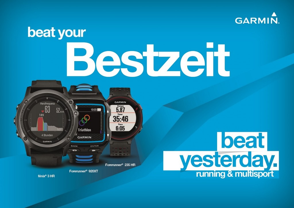 #BeatYesterday_Kampagnenmotiv _RUNNING_Grossflaeche(c)Garmin Deutschland GmbH