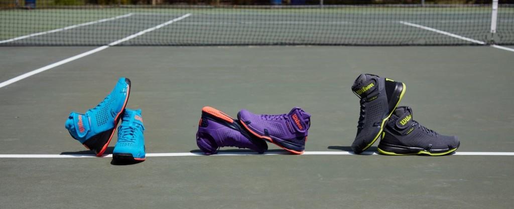 Verschiedene Tennisschuhe für verschiedene Beläge bei Keller Sports