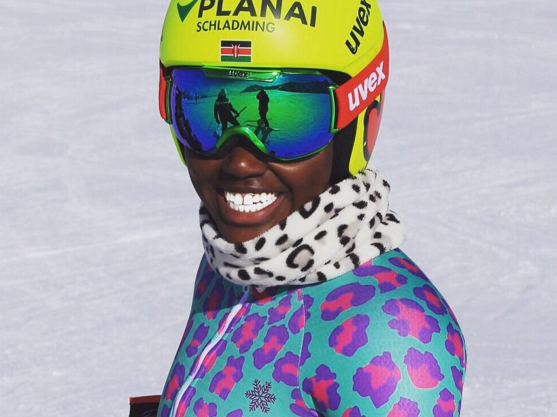EINE SKIFAHRERIN AUS KENIA TRÄUMT VON OLYMPIA