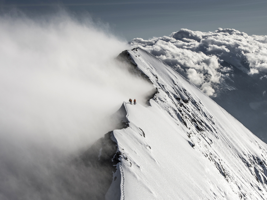 Panorama-view with the Mammut Eiger Extreme Kollektion