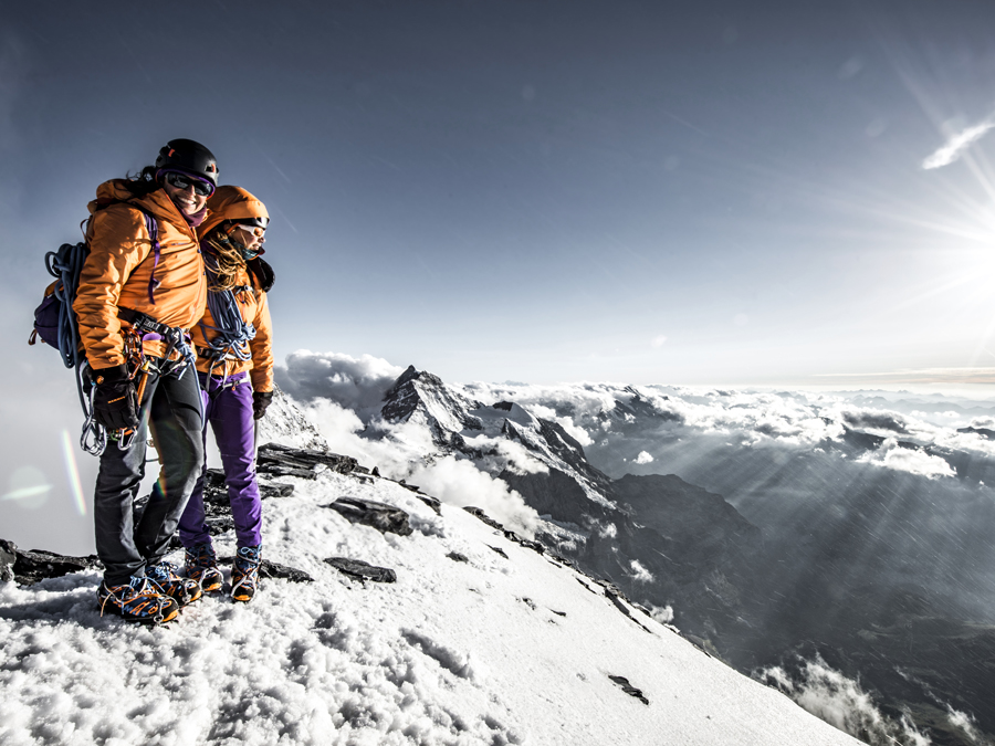 Summit-photo with the Mammut Eiger Extreme collection