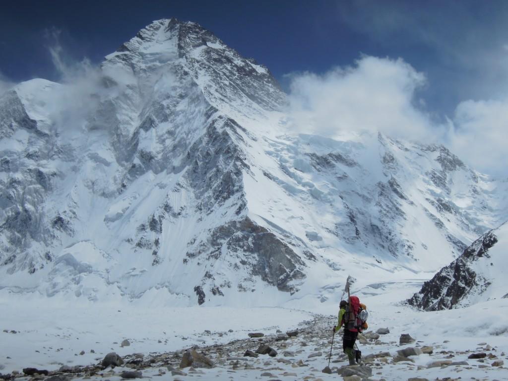 Gerlinde Kaltenbrunner K2 Zustieg