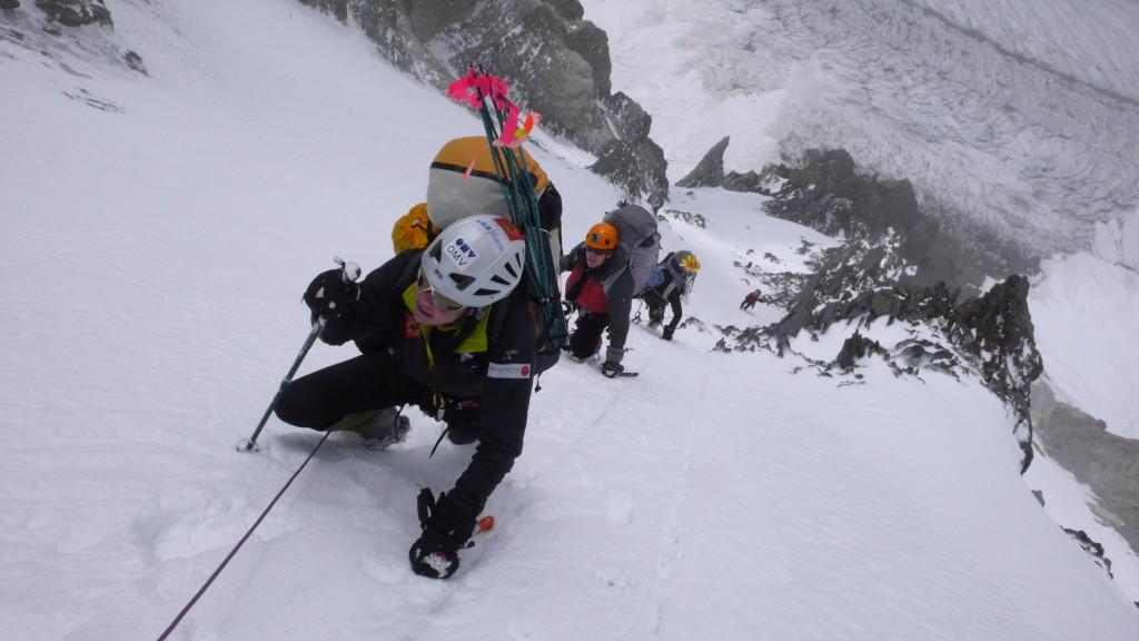 Gerlinde Kaltenbrunner K2 Zustieg Cesenroute