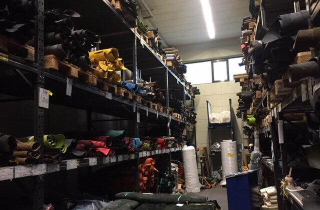 LOWA Werk Jetzendorf Leder Lager für Wanderschuhe und Outdoor Ausrüstung