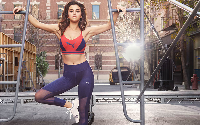 PUMA Always On Graphic 7 8 Tight Selena-Gomez Fitness Workout Training Kollaboration