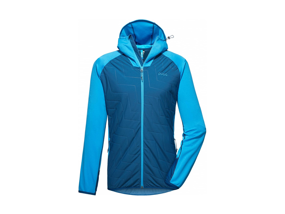 PYUA Snug-Y 2.0 Insulated Hooded Herren Fleecejacke (blau)