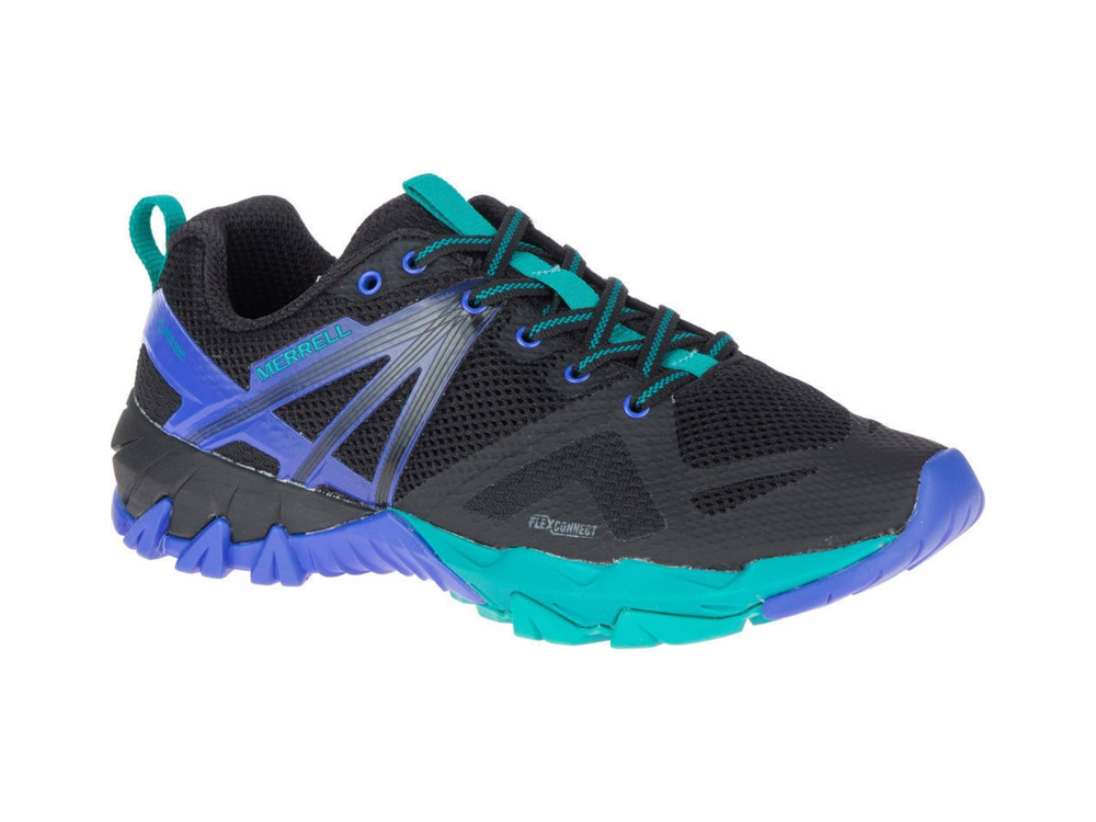 Merrell MQM Flex GTX women's hiking shoes (black/turquoise)