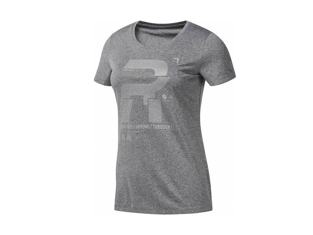Reebok - Reflective Damen Laufshirt (grau)