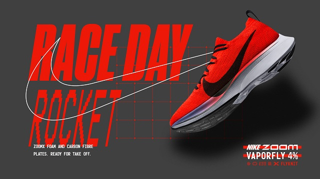 Nike ZoomX Vaporfly 4% LED 2019 Laufschuhe Running Marathon Zoom Schuhe Laufen