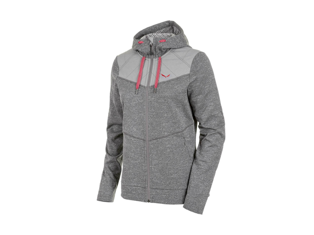 Salewa - Fanes Hybrid PL/PTX Full-Zip Hoody women's knitted fleece jacket(grey)