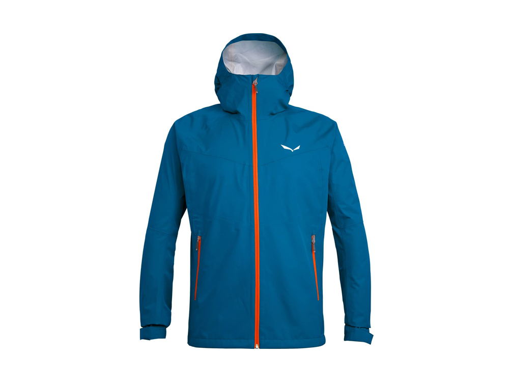 Salewa Puez (Aqua 3) Powertex men's raincoat (blue/orange)