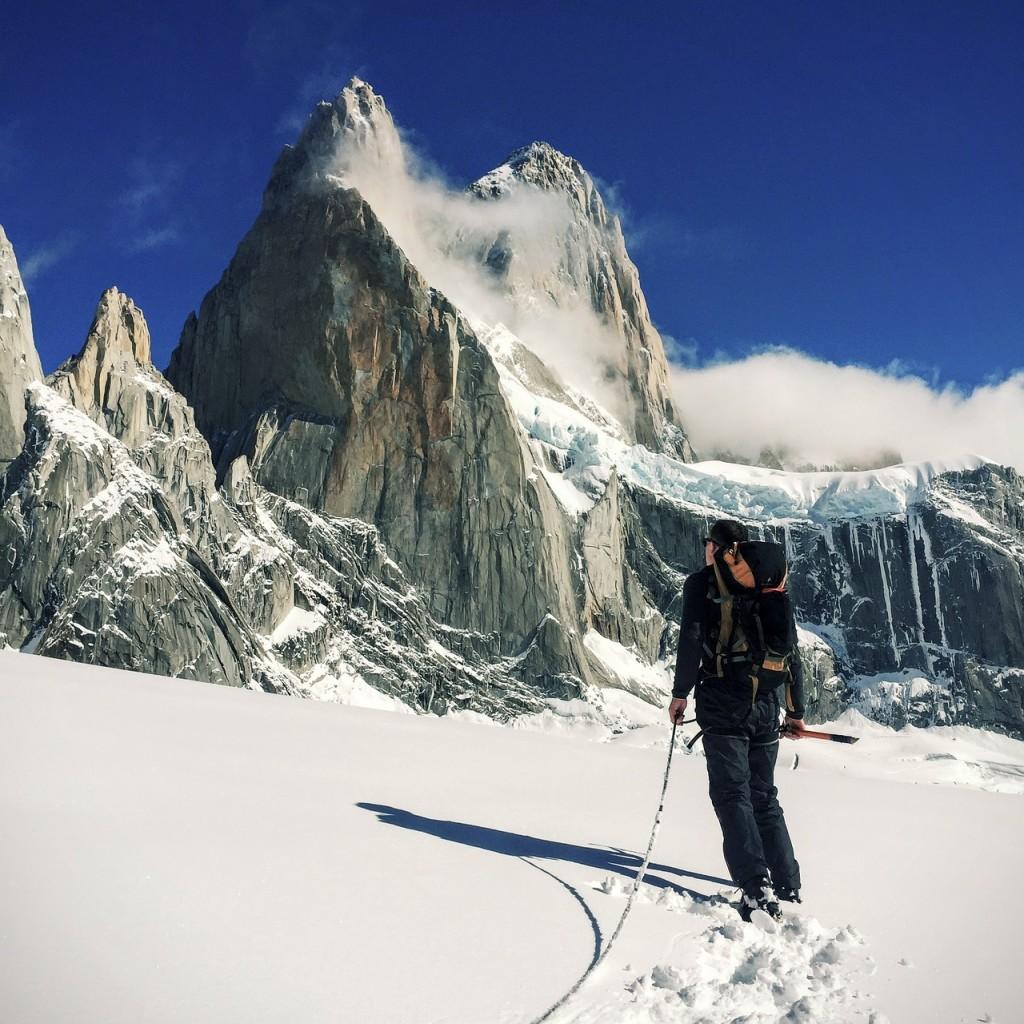 Winterwandern Aufstieg