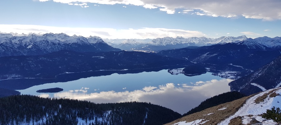 Winterwandern Aussicht