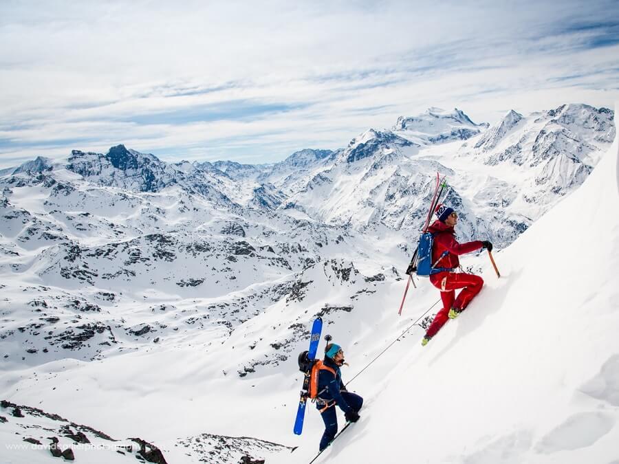 Marmot Athlet Gilles Sierro über das Steep Skiing