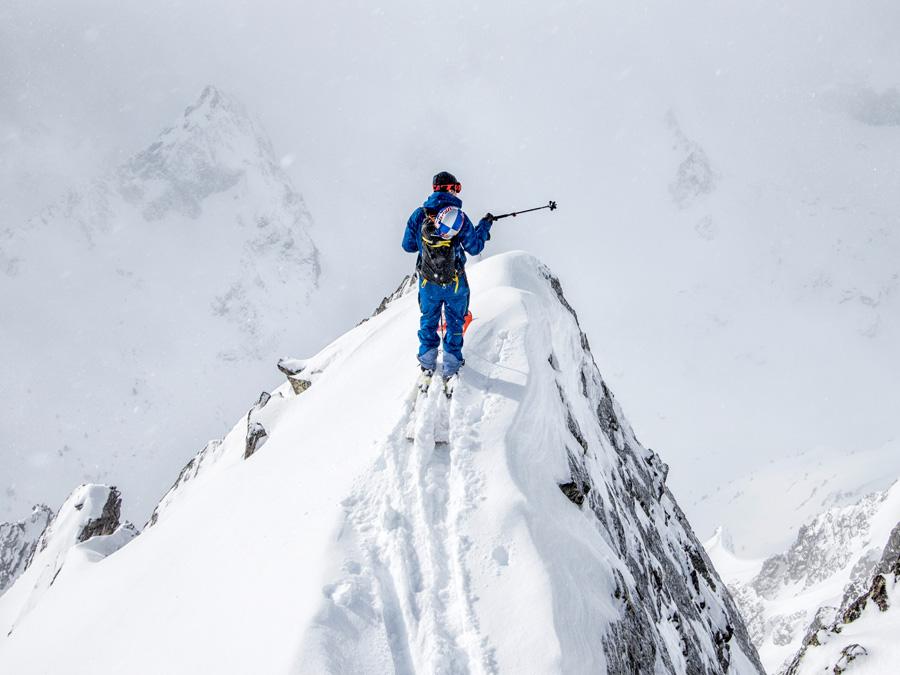 Jeremie Heitz Skitour les Marecottes Freeski
