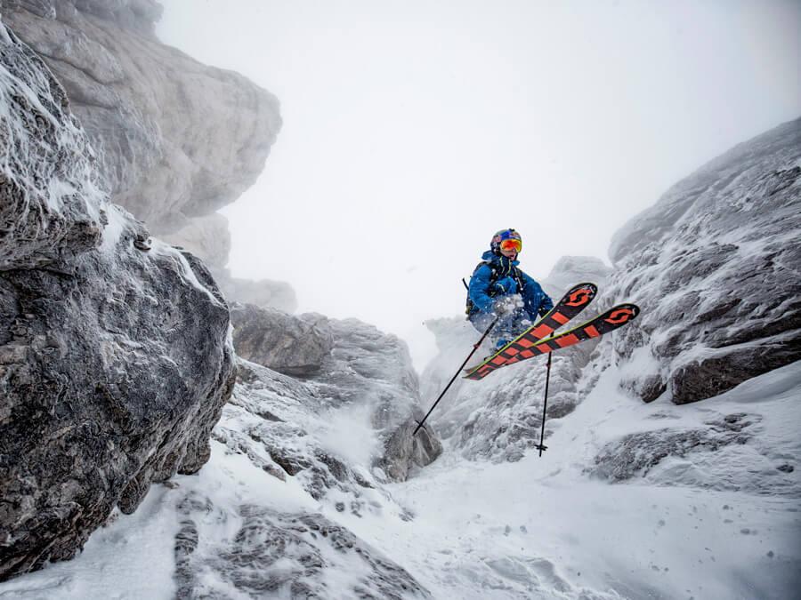 Mammut Jeremie Heitz Freeski Jump Dolomiten