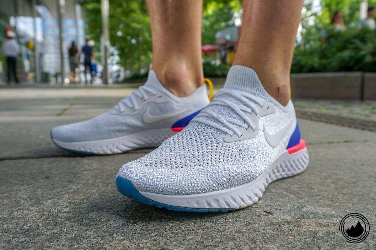 Nike Epic React Flyknit Test Schuh Herren Laufen New Running
