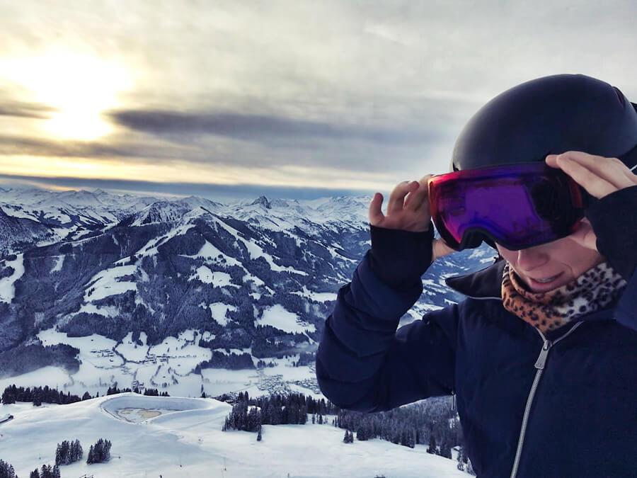 Sicherheit beim Skifahren Skibrille Vivid Article Piste Österreich Ski Giro