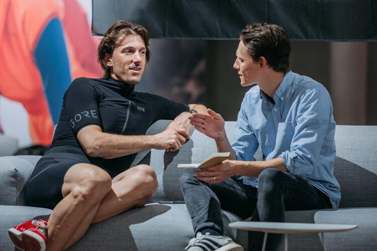 Fabian Cancellara Interview aus Bern Schweizer Rad Sport Champion Cycling