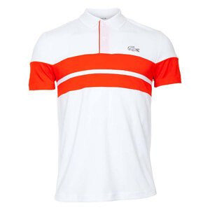 Lacoste Herren Tennisshirt weiß rot 79,90 € Polo Roland Garros Edition Novak Djokovic