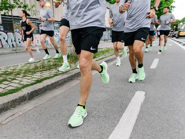 Nike Air Zoom Pegasus 36 Laufschuhe Test Lauf Barcelona Launch Juni 2019 Green Black Grey 119,90 €