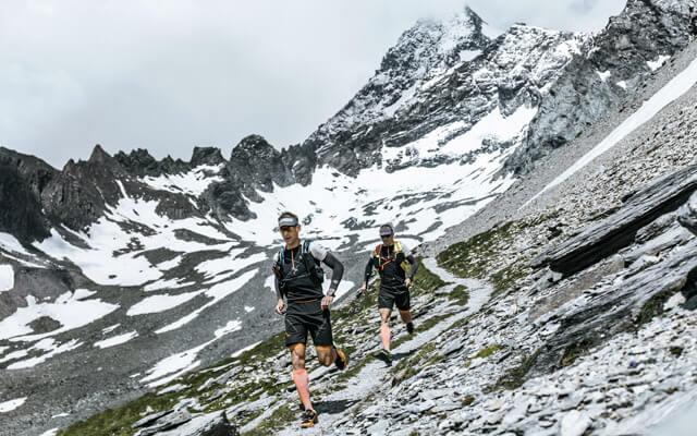 Grossglockner Ultra Trail in Österreich Strecke Kals Kaprun Weissee Tauern im Juli 2019 Dynafit