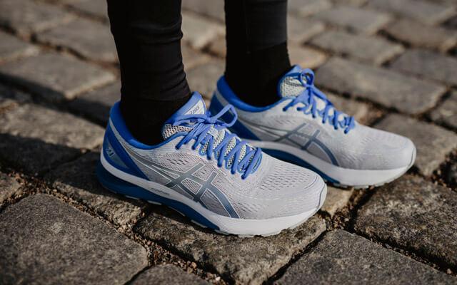 ASICS GEL-Nimbus 21 Test 2019 New Laufschuhe für Damen und Herren im Training zum Laufen auf der Straße Seite