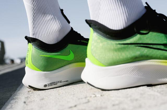Nike Zoom Fly 3 Running Schuhe im Test 2019 Heel Ferse Swoosh Logo und Just Do it Aufschrift