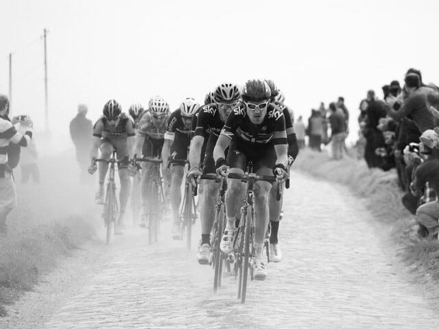 Tour de France im Juli 2019 Team Sky Fahrer Trikots während einer Etappe 2018