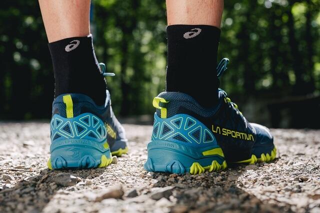 La Sportiva Bushido II Trail Laufschuhe im Trailrunning Test 2019 Ferse für guten Halt