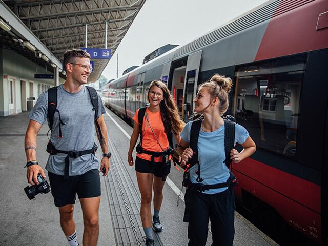 Mit dem Zug nach Slowenien