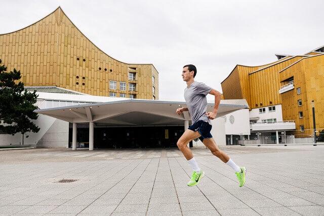 Valentin Pfeil läuft um sich auf den Berlin Marathon 2019 vorzubereiten