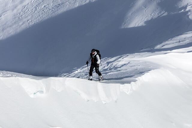 Aufstieg mit dem Dynafit Tlt 8 Skitourenskischuh am Kitzsteinhorn im Winter Test 2019 2020