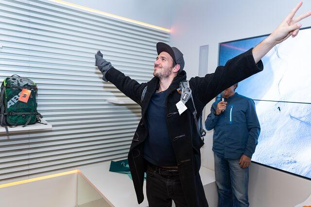 Felix Neureuther bei der ABS Rucksack Challenge im Keller Sports Store München 2019