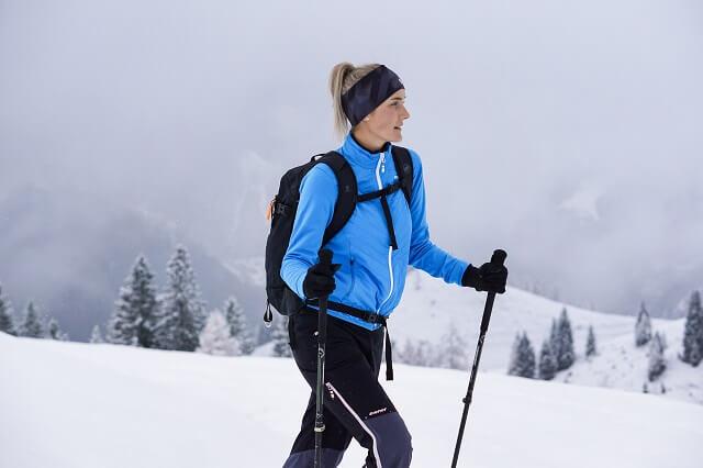 Ziener Jorina Hybridjacke zum Skitourgehen im Test Winter 2019 2020