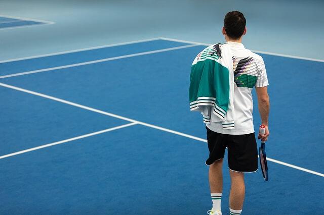 Der Adler auf der Mizuno Tennisbekleidung des 90s Pack erinnert an die erfolgreiche Zeit von Ivan Lendl