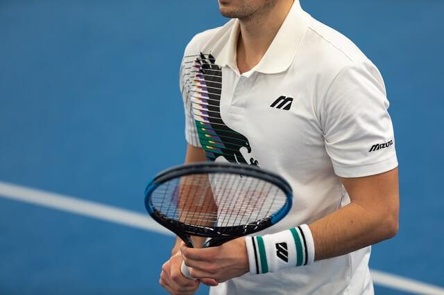 Der World Club Tennis testet die neue Mizuno Tennisbekleidung für das große Tennisturnier in Down Under 2020