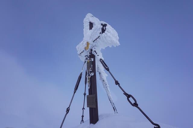 Das Gipfelkreuz auf dem Großglockner in Österreich 2020