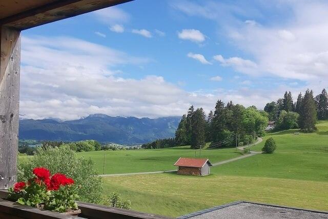 Der Ausblick aus dem Hans Georg Kaufmann Radhotel