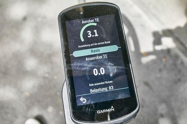 Das Training kann mit den vielen Sensoren des Garmin Edge 1030 Plus Fahrradcomputer auch auf der Bike Strecke 2020 gut überwacht werden
