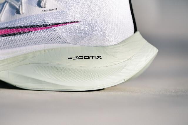 Der ZoomX Schaumstoff in der Ferse gibt dem Nike Air Zoom Alphafly NEXT% die nötige Dämpfung und Dynamik für Laufschuhe