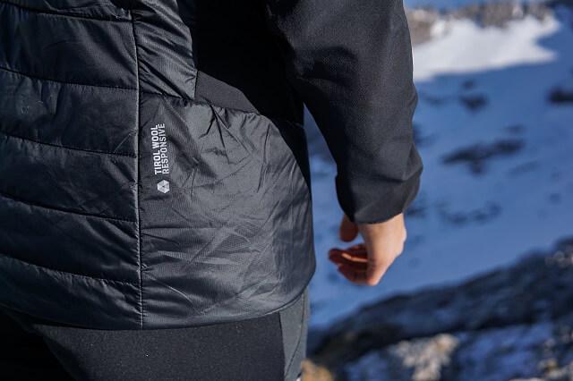 Die Salewa Responsive Technologie in Zusammenhang mit Tyrol Down Wool ergibt eine funktionale Outdoor Ausrüstung in unserem Test 2020