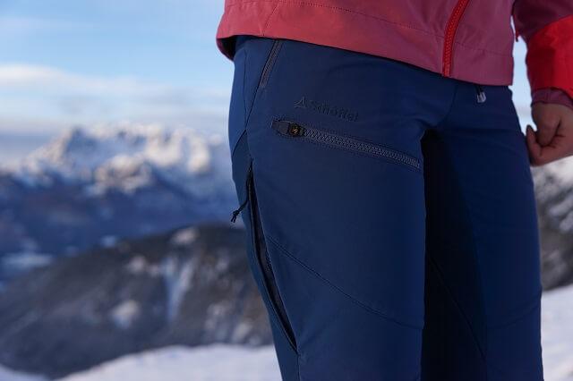 Die Schöffel Rognon Softshell Skitouren Hose im Wintersport bekleidung Test 2020 2021