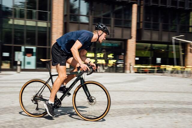 Beim Scott Level beim Brand City CLash by KELLER 2021 musste ein Teammitglied mit dem Fahrrad fahren