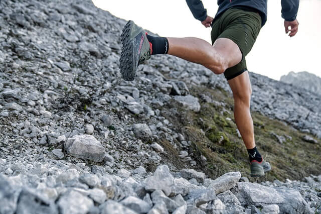 Für das Trailrunning im Herbst empfehlen wir Laufschuhe mit wasserdichter Membran wie GORE-TEX