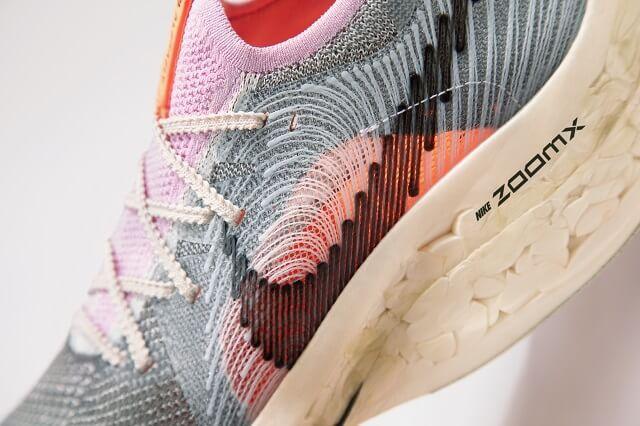 Der Nike Air Zoom Alphafly Next Nature besteht aus nicht verwendeten recycelten Materialien von anderen Nike Laufschuhen